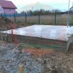Монолитная фундаментная плита под баню