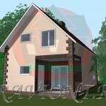 проект маленького дома с мансардой