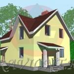 проект дома с мансардным этажом