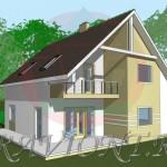 проект дома с желтым фасадом