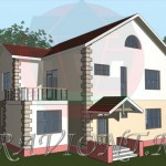 проект дома с большим балконом