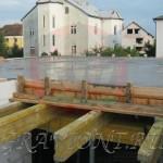 Свежеуложенный бетон перекрытия