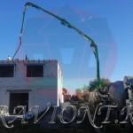 Заливка перекрытия второго этажа