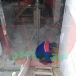 Процесс выставления опалубки монолитной ж/б лестницы
