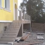 Лестница после заливки