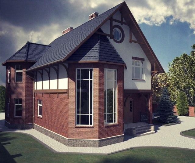 Проекты мансардных домов и коттеджей