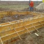 Укладка бетона в опалубку