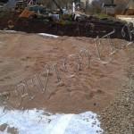 Песчаная подсыпка перед трамбованием