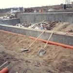 Строительство фундамента п. Голубево