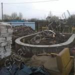Монолитный железо-бетонный фундамент после заливки