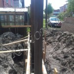Опалубка фундамента под забор
