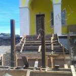Подготовка к заливке лестницы