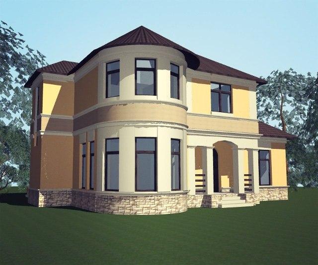Проекты двухэтажных коттеджей