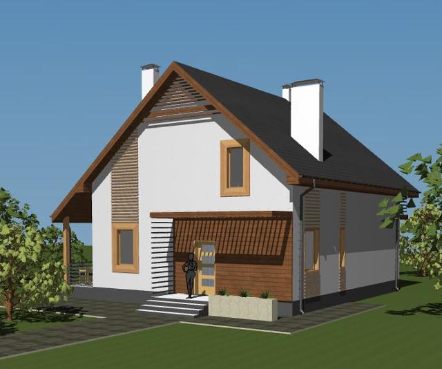 Проекты мансардных домов