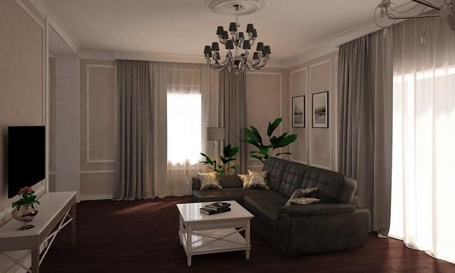 Дизайн интерьера кухни-гостиной в частном доме