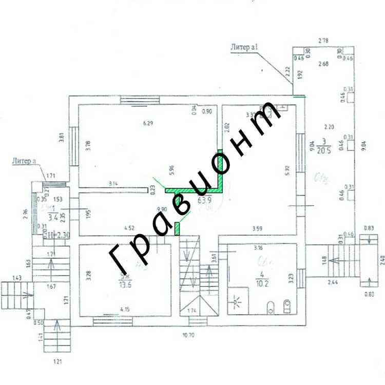 Проект перепланировки квартиры. План после.